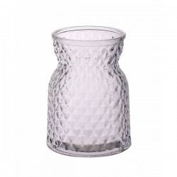 13.5cm Pressed Glass Flower Vase - GL029 10D