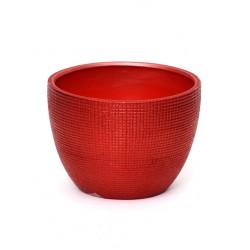 Ceramic Plant Pot Red - 14X019