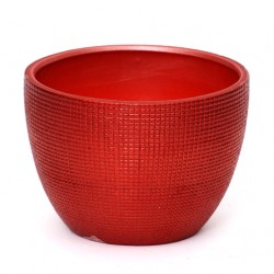 Ceramic Plant Pot Red - 14X019