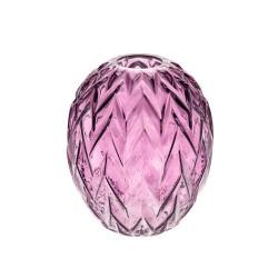 Retro Glass Flower Vase Purple Round - GL123 6A