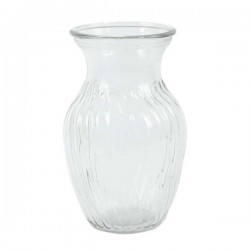 Ribbed Glass Sweetheart Vase 20cm - GL043 9D