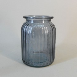 Ribbed Vase Grey 15cm - GL044 5B