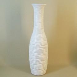 Ripple Vase 60cm Ivory Satin - VS059 2A