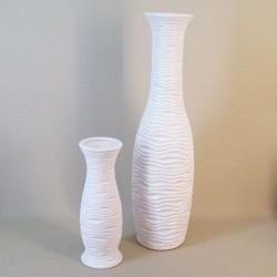 Ripple Vase 31cm Matte White - VS057 1D