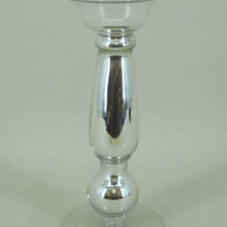 Silver Glass Candlestick - ACC010 6D