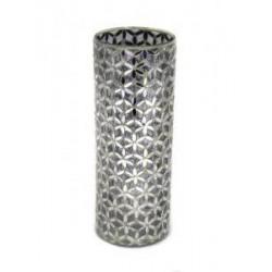Silver Mosaic Cylinder Vase - CYL001 4B
