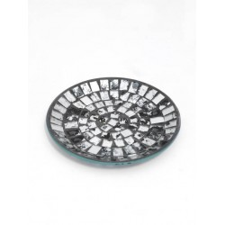 Silver Mosaic Plate - CYL002 9D