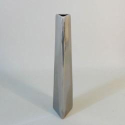 Home Store Silver Metallic Ceramic Bud Vase 24cm - VS045 1C