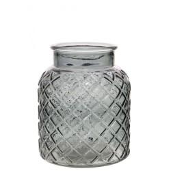 Small Lattice Vase Grey 16.5cm - GL036 4E