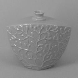 Small Pale Grey Coral Vase - VS050 6D