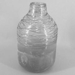 Statement Grey Crackle Glass Vase - GL109 10A