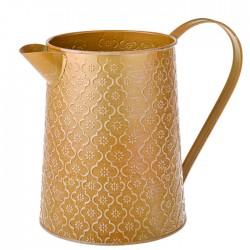 Embossed Tinware Jug Gold  - TIN013