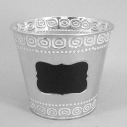 Galvanised Bucket with Blackboard Label - TIN010 6B