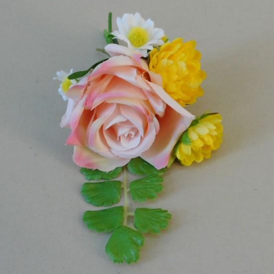 Buttermere Faux Flowers Boutonniere - BUT003