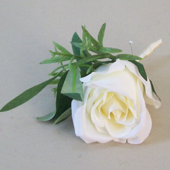 Cream Eternity Rose Boutonniere Buttonhole - BH007