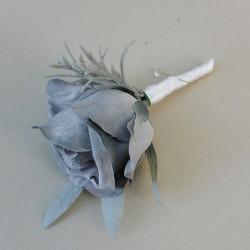 Grey Eternity Rose Boutonniere Buttonhole - R248a