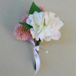 Longlands Faux Flowers Boutonniere Pink - LON023