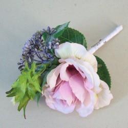 Lyla Cottage Garden Boutonniere Buttonhole or Corsage - R817 BX6