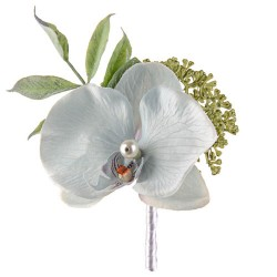 Pearl Wedding Orchid Corsage or Buttonhole Blue - PEA009 FF3