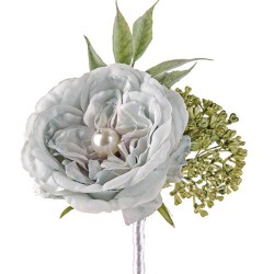 Pearl Wedding Rose Corsage or Buttonhole Blue - PEA005 FF3