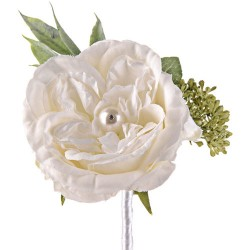 Pearl Wedding Rose Corsage or Buttonhole Ivory - PEA007 FF3