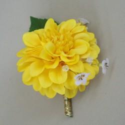 Sunshine Paradise Yellow Boutonniere Buttonhole - ADEC01a