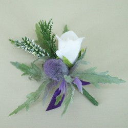 Thistle and Heather Buttonhole - ADEC02aa