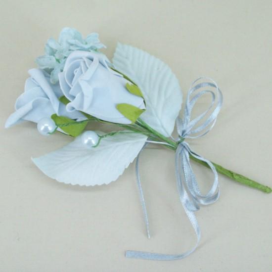 Vintage Wedding Boutonniere Powder Blue - AXB002b PR