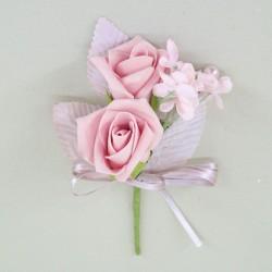 Vintage Wedding Boutonniere Pink - AXB001B KK3