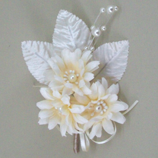 Hippie Chick Vintage Wedding Daisy Corsage - ABC012C PR