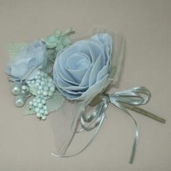 Vintage Wedding Corsage Powder Blue - AXB002a BX10