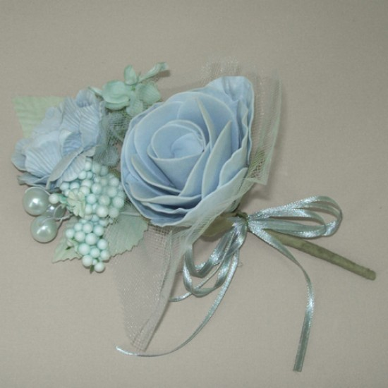 Vintage Wedding Corsage Powder Blue - AXB002a BX10