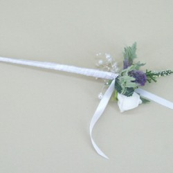 Memory Lane Thistle Bridesmaid Flower Wand - ADEC02z