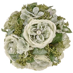 Pearl Wedding Pomander Sage Green - PEA028 EE4