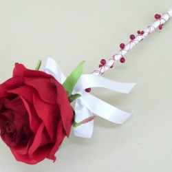 Red Rose Flower Wand - ABB002a