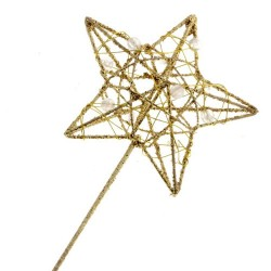 Glitter Star Fairy Wand Gold - WAN007