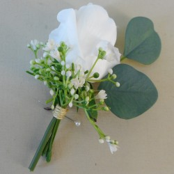 Coniston Faux Flowers Boutonniere - CON003