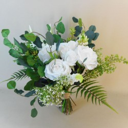 Coniston Faux Flowers Wedding Bouquet Bride - CON001