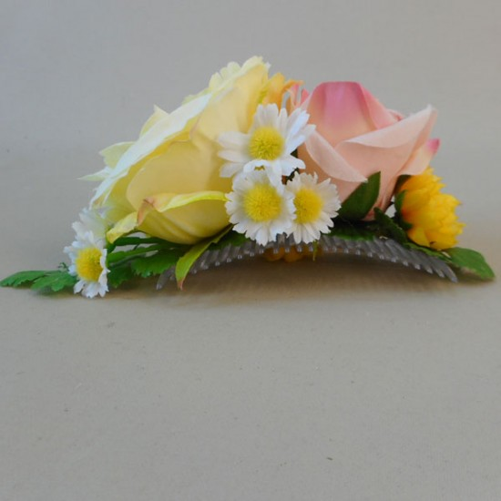 Buttermere Faux Flowers Hair Slide - BUT004