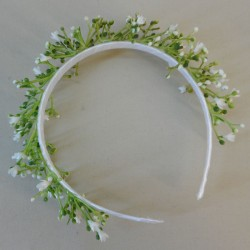 Coniston Faux Flowers Head Band White Gypsophila - CON005