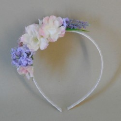 Longlands Faux Flowers Head Band Pink Lavender - LON025