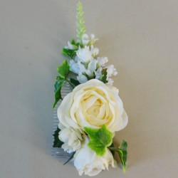 Loweswater Faux Flowers Hair Slide Cream - LOW004