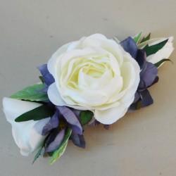 Skiddaw Faux Flowers Hair Slide - SKI004