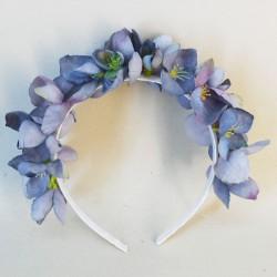 Skiddaw Faux Flowers Head Band Blue Blossom - SKI005