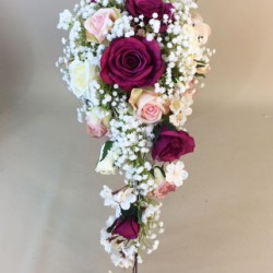 Artificial Flowers Wedding Bouquet Abi - ABI002