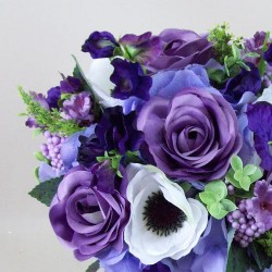 A Summer Garden Artificial Wedding Bouquet Hyacinth Blue - ASB005
