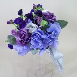 A Summer Garden Artificial Wedding Bouquet Hyacinth Blue - ASB005