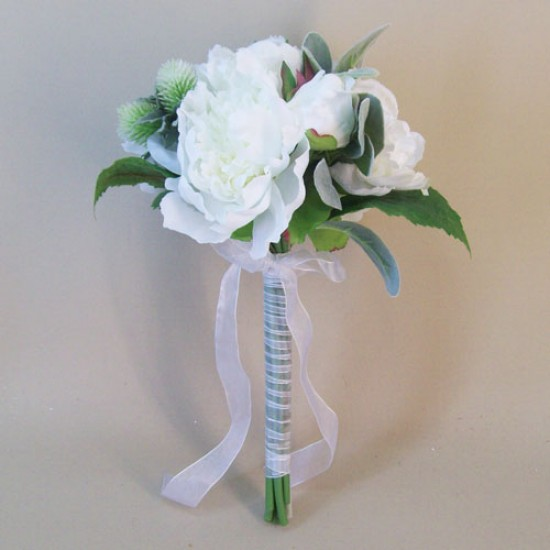 Alicia Peonies Wedding Bouquet White - P210