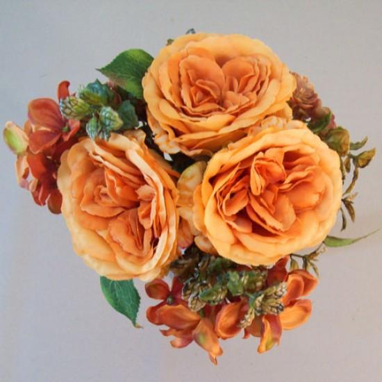 Amber Autumn Garden Wedding Posy Orange - AMB003 EE4