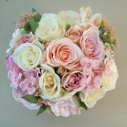 Annabel Artificial Roses Wedding Bouquet - ANN001